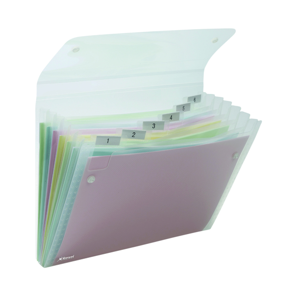 1-31 Pocket Rexel Ice Expanding Files PP 6 Pocket A4 Clear (10 Pack) 2102033