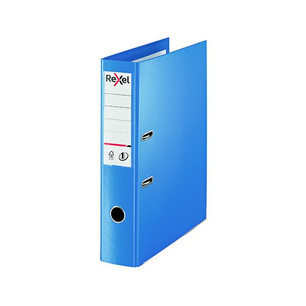 Rexel Choices 75mm Lever Arch File Polypropylene Foolscap Blue 2115512