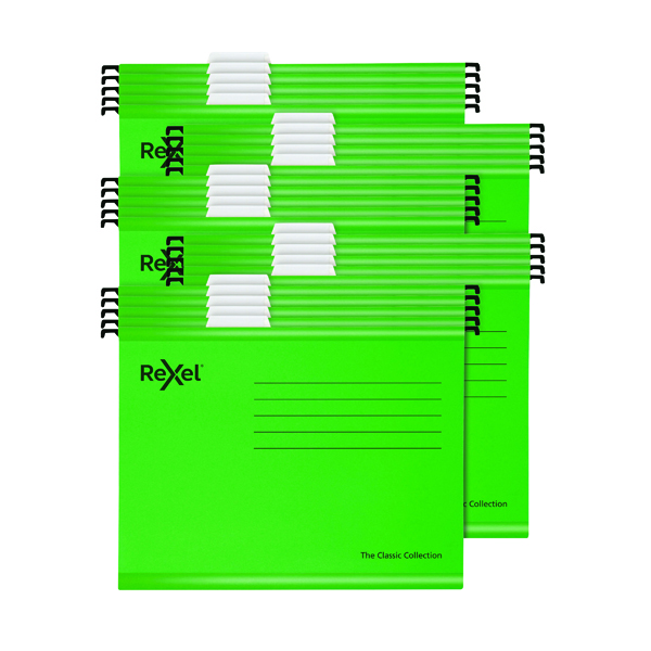Suspension File Rexel Classic Suspension Files A4 Green (25 Pack) 2115586