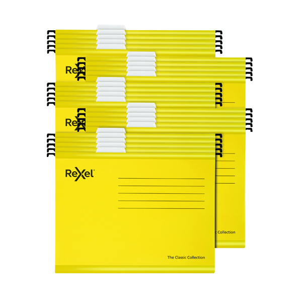 Suspension File Rexel  Classic Suspension Files A4  Yellow (25 Pack) 2115588