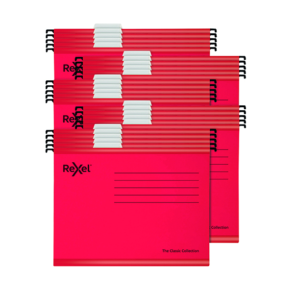 Suspension File Rexel Classic Suspension Files A4 Red (25 Pack) 2115589