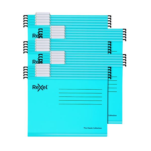 Suspension File Rexel  Classic Suspension Files Foolscap Blue (25 Pack) 2115590