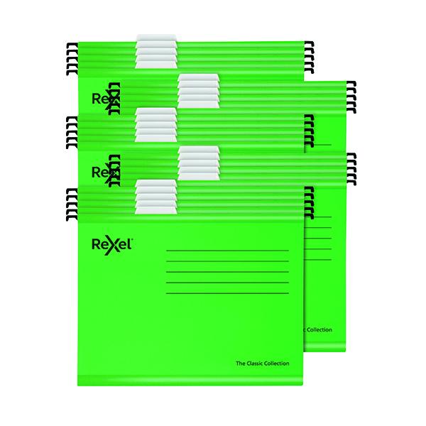 Suspension File Rexel  Classic Suspension Files Foolscap Green (25 Pack) 2115591