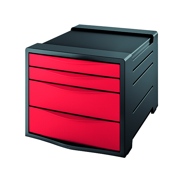 4 Drawer Rexel Choices Drawer Cabinet  Red 2115611