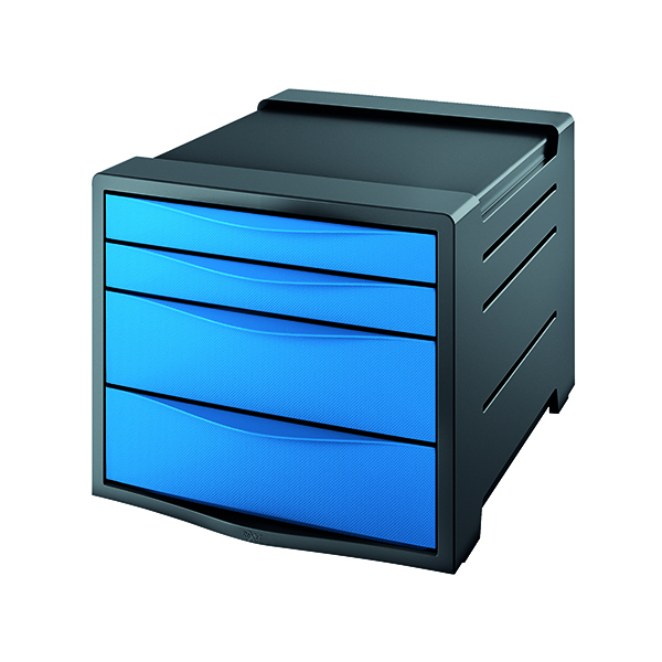 4 Drawer Rexel Choices Drawer Cabinet Blue 2115612
