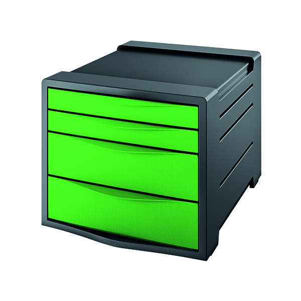 4 Drawer Rexel Choices Drawer Cabinet Green 2115613