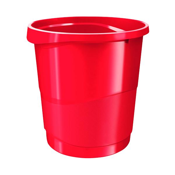 Rexel Choices Waste Bin Red 2115619
