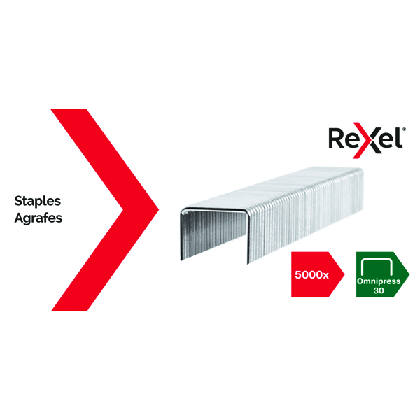 Rexel Omnipress 30 Staples (5000 Pack) 2115684