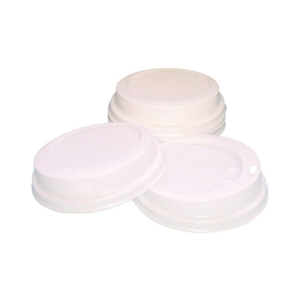 Disposable Cups & Accessories Caterpack White 25cl Paper Cup Sip Lids (100 Pack) MXPWL80