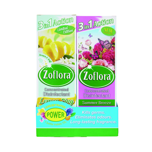 Cleaning Chemicals Zoflora 3-in-1 Concentrated Disinfectant 250ml (8 Pack) 20220