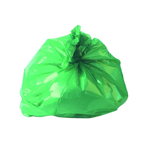 2Work Medium Duty Refuse Sack Green (200 Pack) CS002