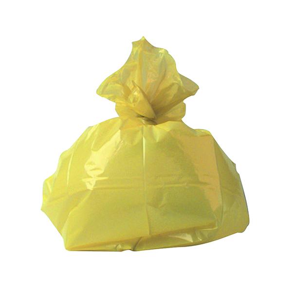 2Work Medium Duty Refuse Sack Yellow (200 Pack) CS001