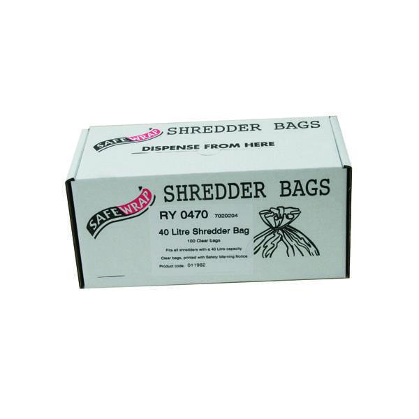 Safewrap Shredder Bag 40 Litre (100 Pack) RY0470