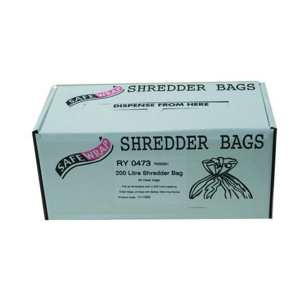 Safewrap Shredder Bag 200 Litre (50 Pack) RY0473