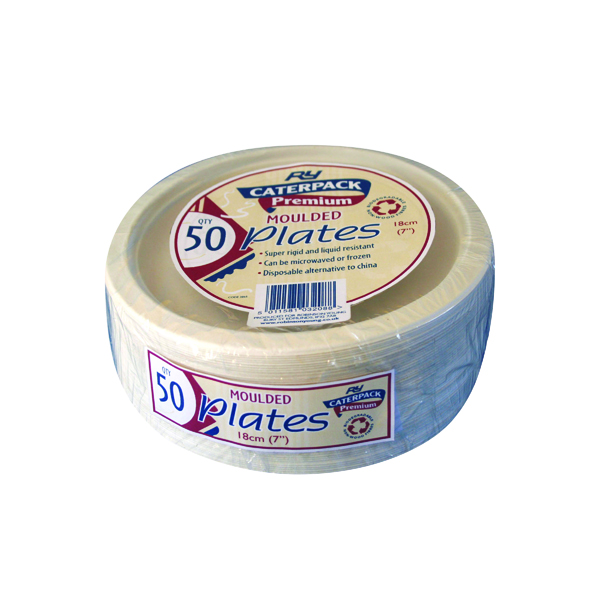 Super Rigid 7 Inch Biodegradable Plate (50 Pack) 3865