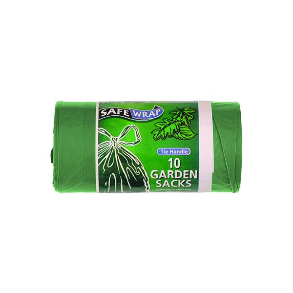 Bin Bags & Liners Safewrap Tie Handle Garden Refuse Sack (40 Pack) 0464