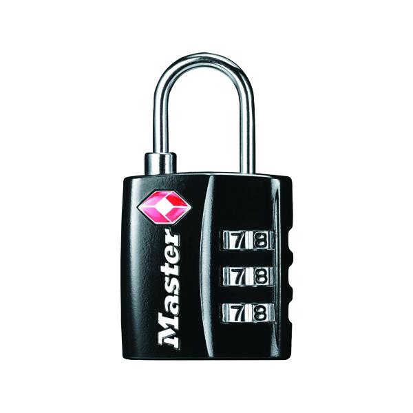 Padlocks Master Lock Black 32mm TSA Combination Padlock 40054