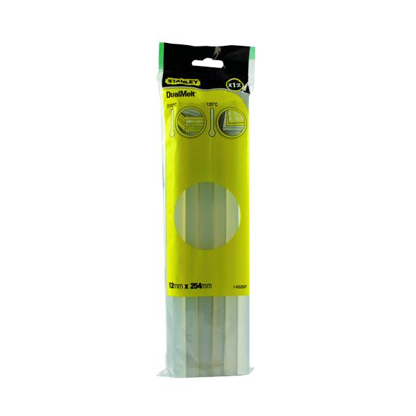 Stanley 10 Inch Dual Melt Glue Stick (12 Pack) 0-GS25DT