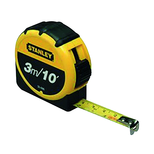Planes, Chisels & Files Stanley Retractable 3m Tape Measure With Belt Clip 0-30-686