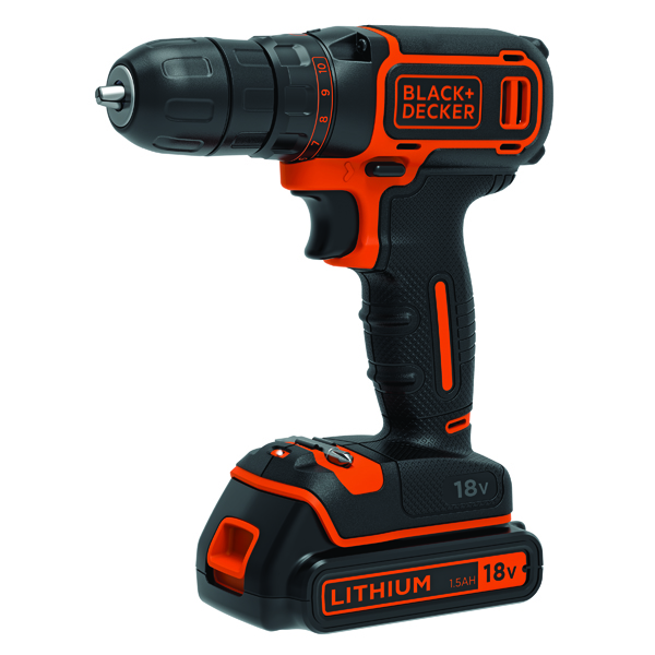 Planes, Chisels & Files Black and Decker Drill Driver 18V BDCDC18-GB