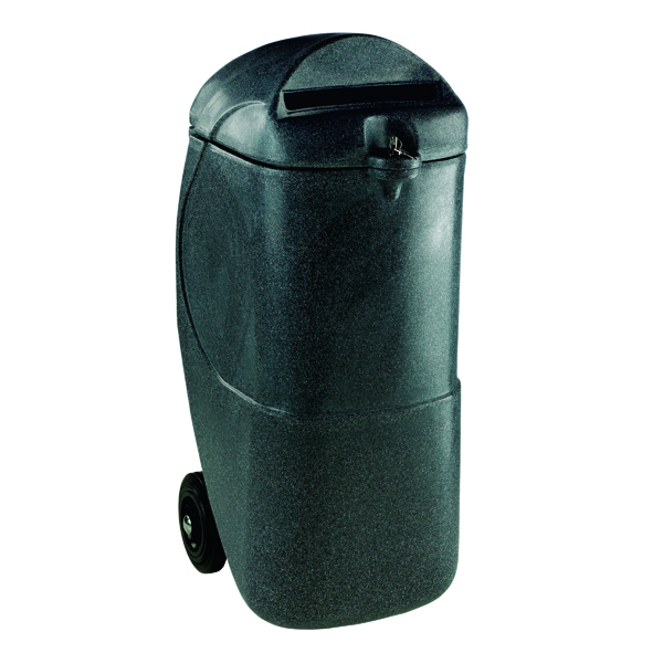 Mobile Confidential Waste Bin With Lock 90 Litre 313708