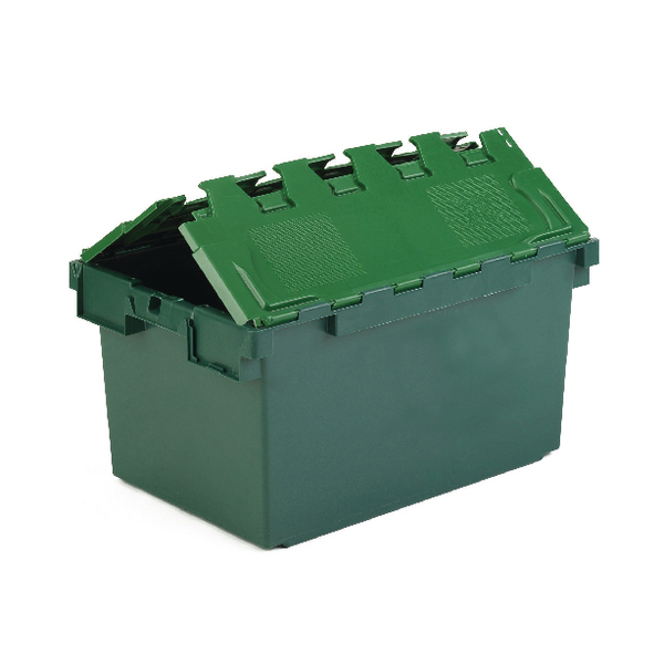 Containers VFM Green 25 Litre Plastic Container With Lid 306579
