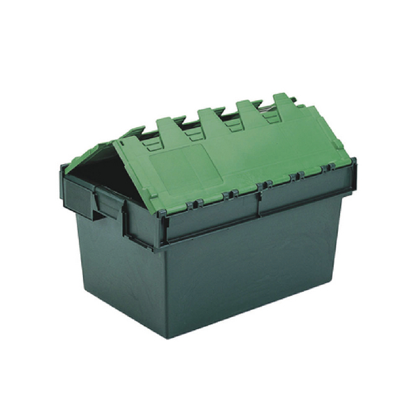 Containers VFM Green 64 Litre Plastic Container With Lid 306598