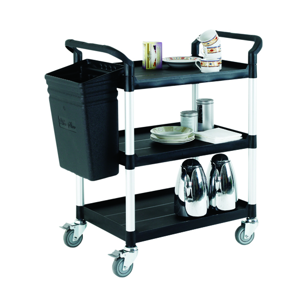 Black Open Service Trolley Cart 309620