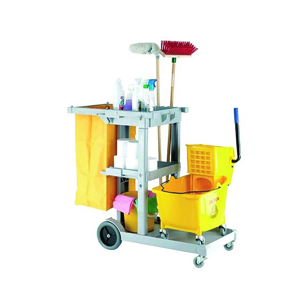 Trolleys Multipurpose Janitorial Trolley Grey 101272