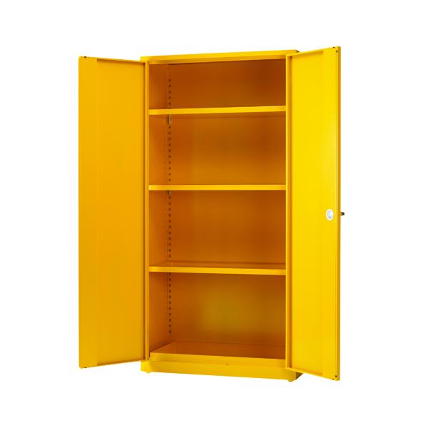 VFM Yellow Hazardous Substance Storage Cabinet With 3 Shelves 188736