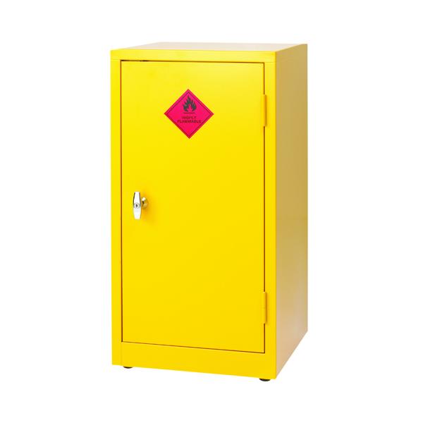 Cupboards H up to 1200mm VFM Yellow Hazardous Substance Storage Cabinet 1-Shelf 915mm 188740