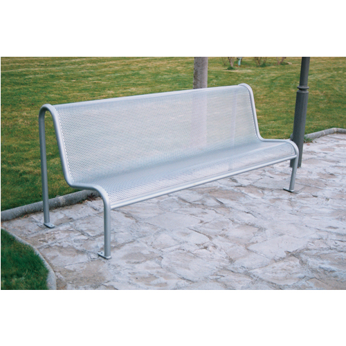 Unspecified Value Grey Metal Mesh Outdoor Bench Seat 315563