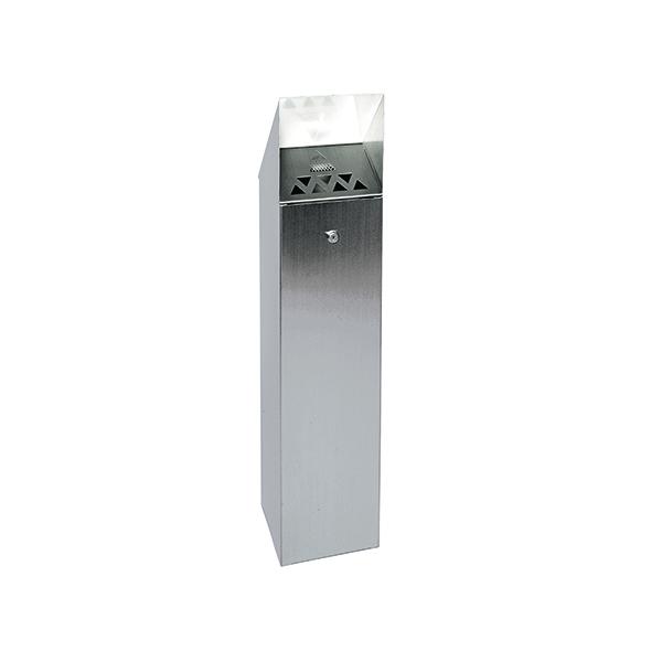 Silver Hooded Top Cigarette Ash Tower Bin 6.6 Litre 317468