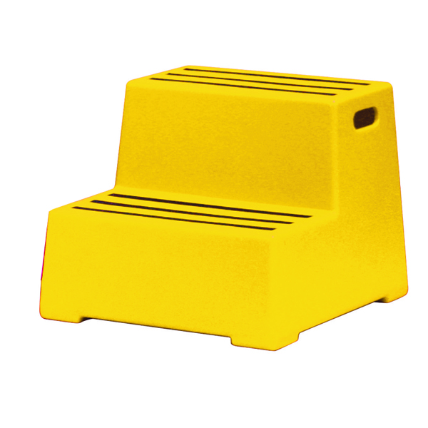 Yellow Plastic 2 Tread Safety Step 325097