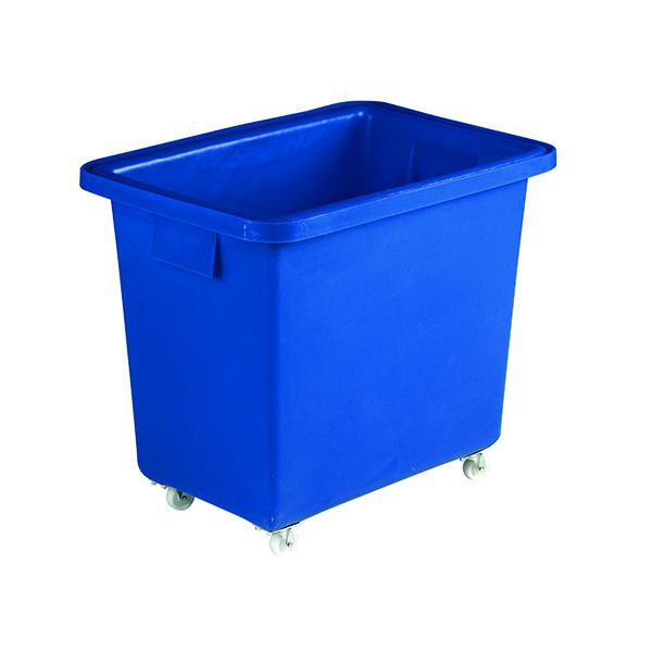 VFM Blue Swivel Castor Bottle Skip 405x610x560mm 328217