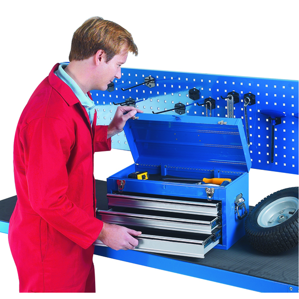 Planes, Chisels & Files 3 Drawer Blue Tool Chest 329228