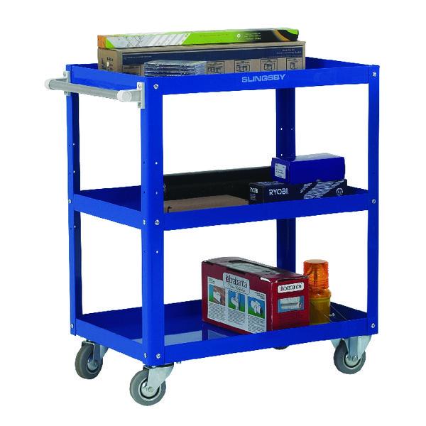 Works Blue 3-Tier Trolley 329944