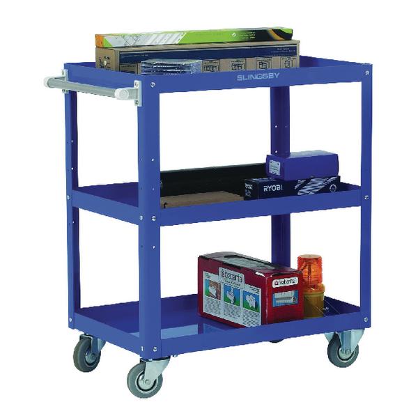 Works Blue 3-Tier Trolley 329946
