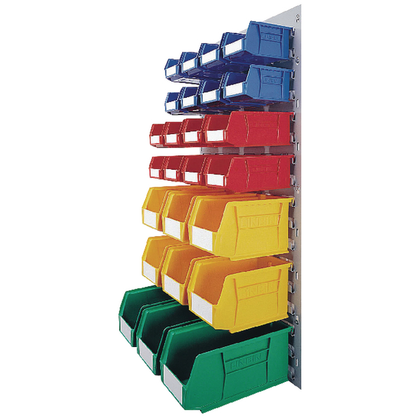 Containers VFM Coloured Wall Mounted Bin Storage Unit 331569