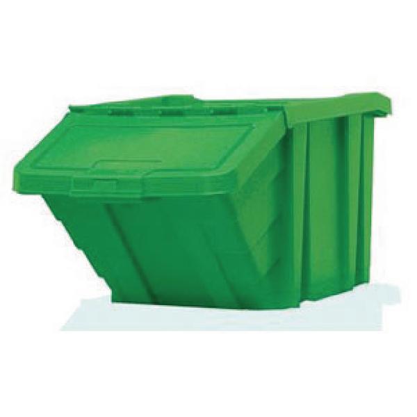 VFM Green Heavy Duty Storage Bin With Lid 359520
