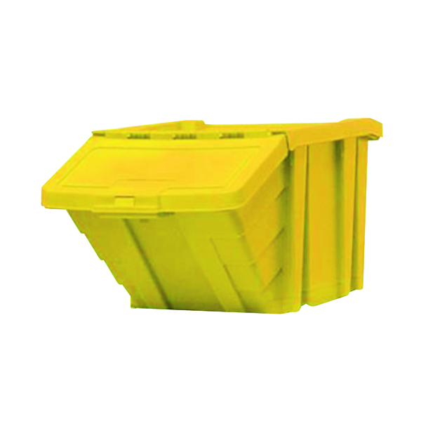 VFM Yellow Heavy Duty Storage Bin With Lid 359521