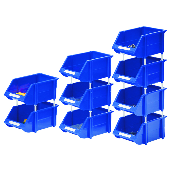 Containers VFM Blue Heavy Duty Storage Bin (12 Pack) 360235