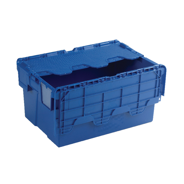Containers Blue Attached Lid Container 54L 375815