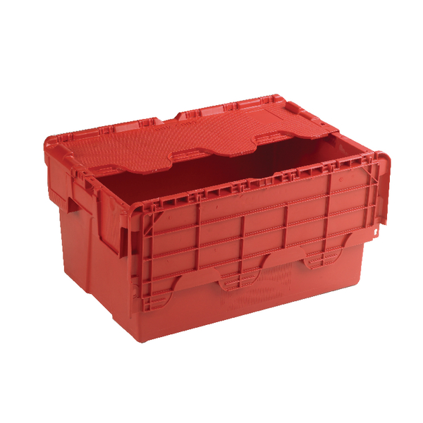 Containers Red Attached Lid Container 54L 375816