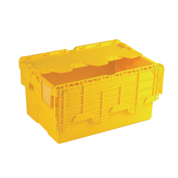 Containers Yellow Attached Lid Container 54L 375817