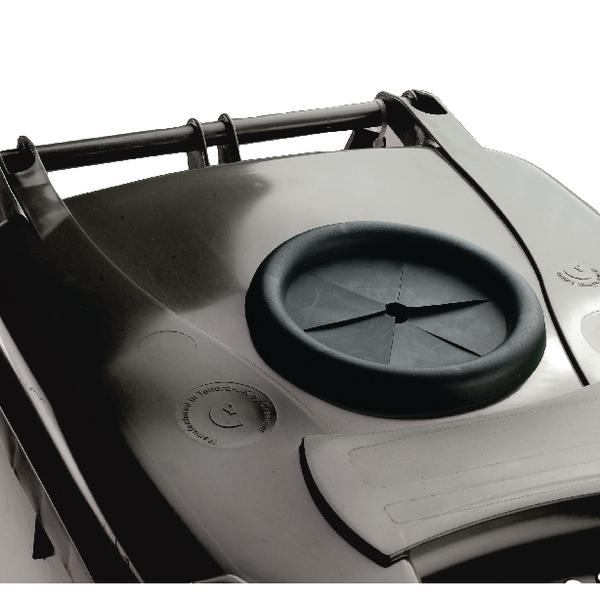 Wheelie Bin With Bottle Bank Aperture 360 Litre Grey 376849