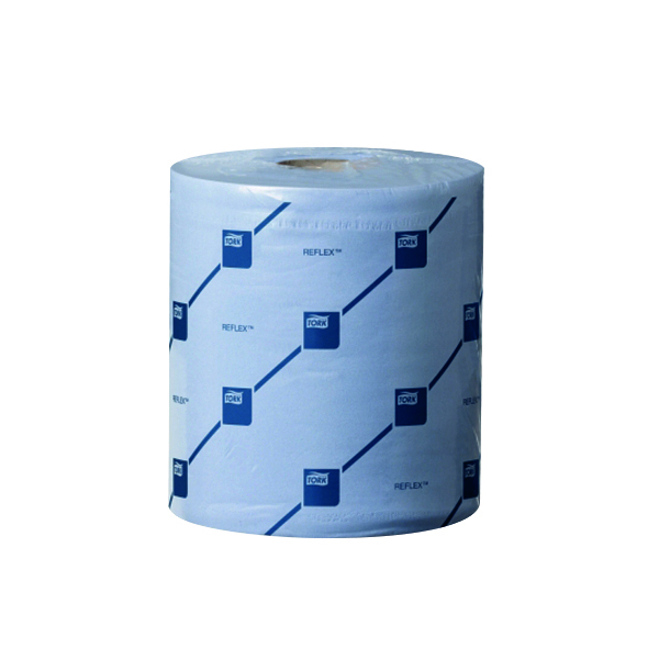 Hand Towels & Dispensers Tork Reflex M4 Centrefeed Tissue 2-Ply 150m Blue (6 Pack) 473263