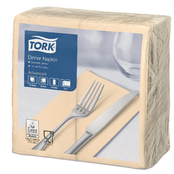 Tork Dinner Napkin 2-Ply 8 Fold Sand (150 Pack) 477565