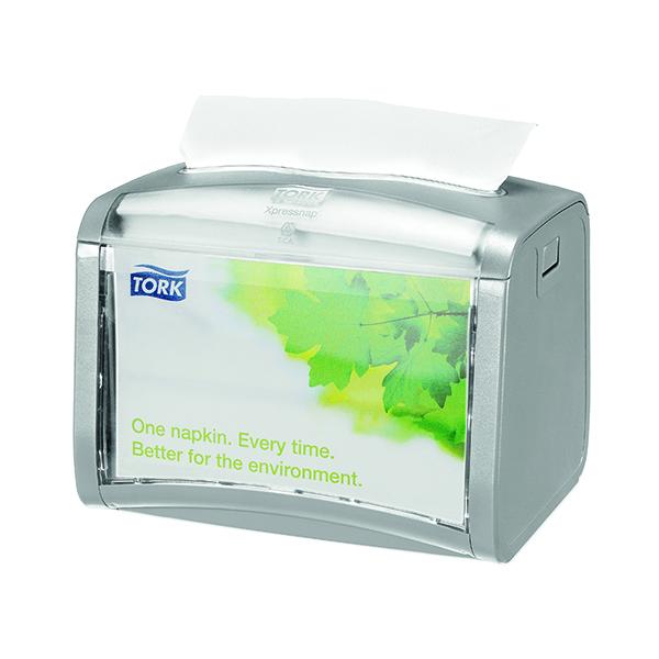 Tork Silver Xpressnap Tabletop Napkin Dispenser 272613
