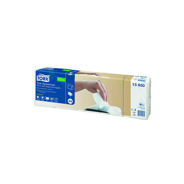 Tork Xpressnap 2-Ply Napkins 2 Fold White (1000 Pack) 15850